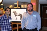 winning bidder (Sandeep Bali) and artist (James Franssen)
